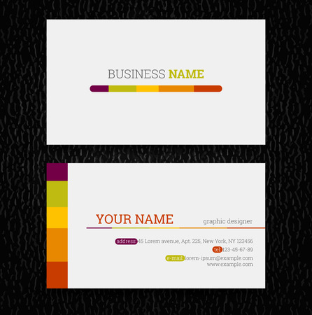 visit card: Vector abstract creative business cards (set template) Illustration