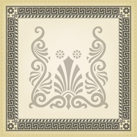 arte greca: Confine meandro tradizionale greca. Illustrazioni vettoriali.