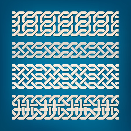 oriental vector: Set of Oriental Pattern Elements. Vector illustration. Illustration