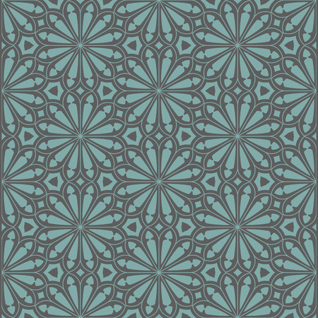 pattern geometric: Seamless floral background. Vector illustration Illustration