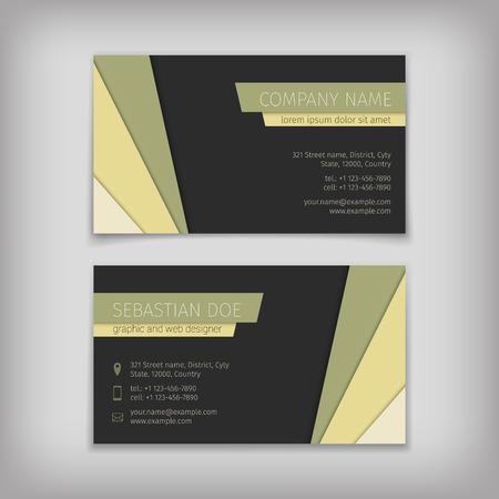 visit: Set of vector business cards templates Illustration