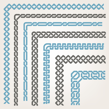 geometrics: Decorative seamless islamic ornamental border with corner