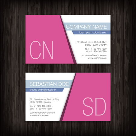 business card template: Set of vector business cards templates Illustration