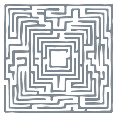 leading the way: Vector illustration of labyrinth. Some wrong ways and one exit. Illustration