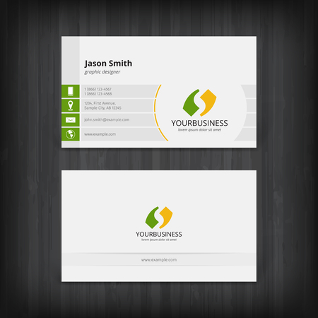 ベクトル抽象的な創造的なビジネス カード  イラスト・ベクター素材