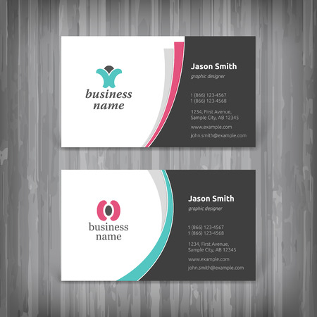 business card template: Vector abstract creative business cards