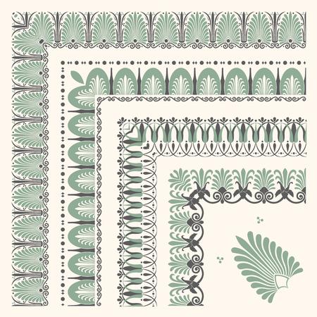 Decorative bordo ornamentale islamico senza soluzione di continuità con angolo