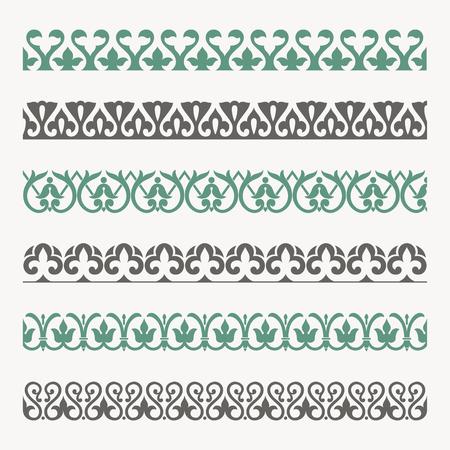 Décoratifs bordures ornementales seamless