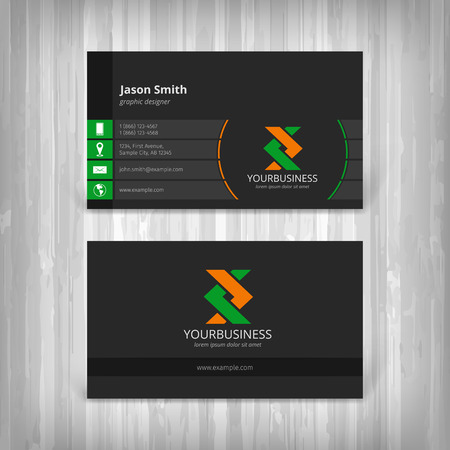 business card design: abstract creative business cards