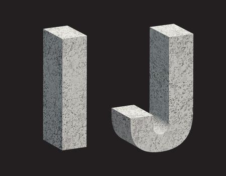 marble stone: Concrete 3D letters. illustration.