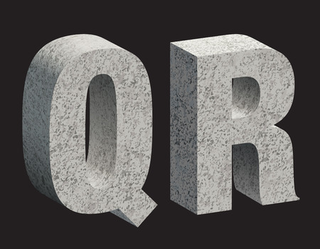 crack up: Concrete 3D letters. illustration.