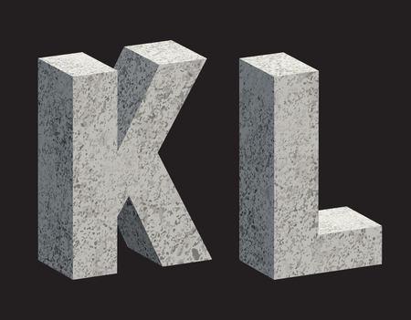 3d letters: Concrete 3D letters. illustration.