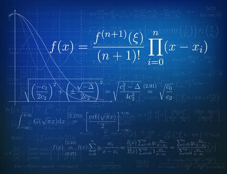 orthogonal: Background with mathematical formulas. Vector illustration. Illustration
