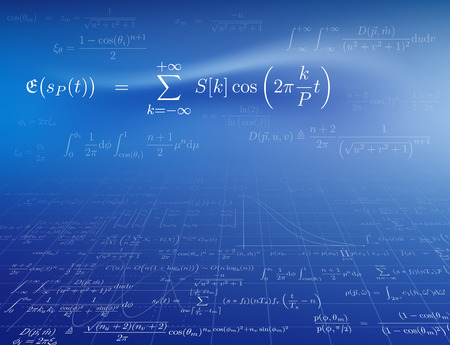 Background with mathematical formulas. Vector illustration. 矢量图像