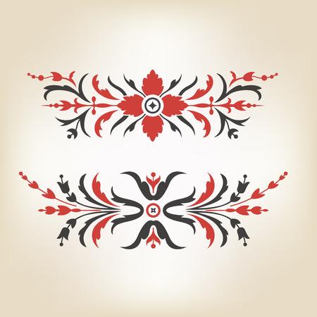 classic classical: Set of antique decorative elements