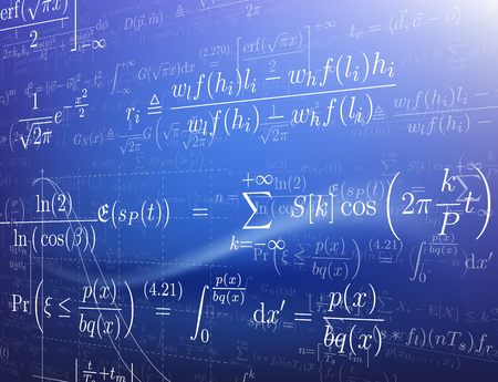 Background with mathematical formulas. Vector illustration. Illustration
