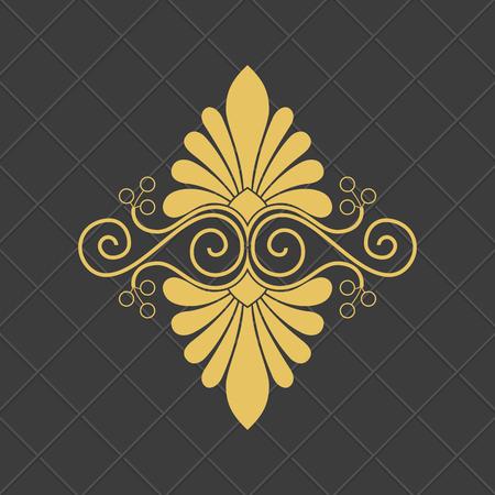 ヴィンテージバロック様式の装飾品。レトロなパターンのアンティークスタイル。