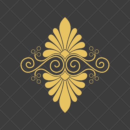 빈티지 바로크 장식입니다. 복고풍 패턴 골동품 스타일입니다.