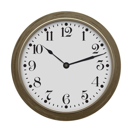 Clock. Vector illustration isolated on white background.
