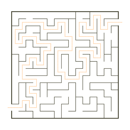 Simple maze with path solution