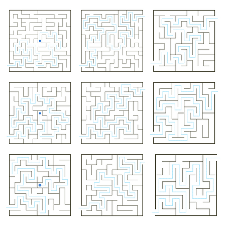 Simple mazes with path solution