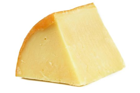 wedges: Fresh piece of Provolone Italian Cheese