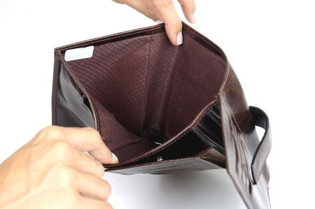 Empty Leather Wallet  photo