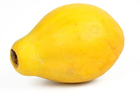 Fresh Papaya fruit on a white background photo
