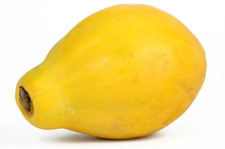 Fresh fruit Papaya on a white background  photo