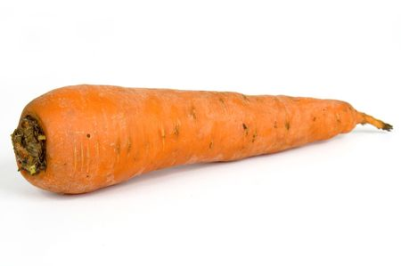 One Vegetable Carrote on a white background Stock Photo - 836254