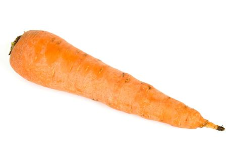 One Vegetable Carrote on a white background photo