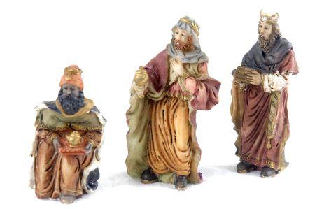 rois mages: Chiffre en c�ramique de nativity des rois magiques - culture de No�l.