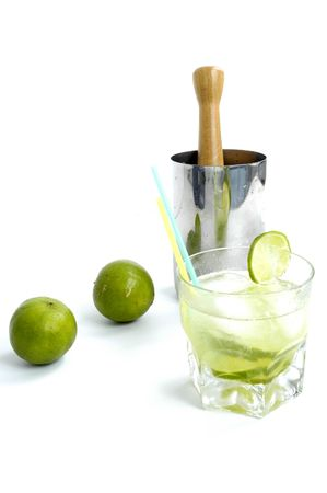Famous Brazilian Drink, with white rum (cachaca), lemon, suggar and ice !