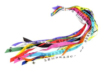 Typical Ribbons of Our Lord of Bonfim - Bahia, Make three wishes and they will come true Stock Photo