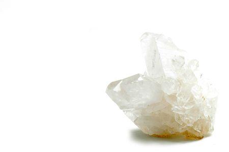Quartz Crystal over white background