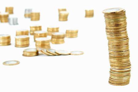 plundering: Verscheidene gouden munten - munt.
