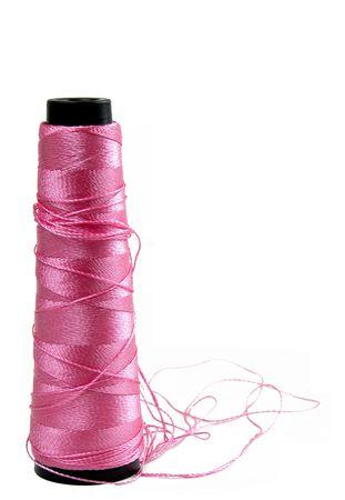 seam: Seam line crochet over a white background