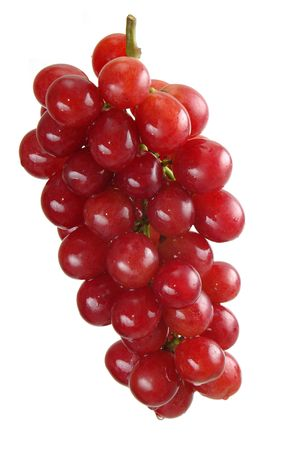 Beautiful bunch of purple grapes over white background. Stock Photo - 838732