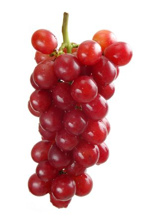 Beautiful bunch of purple grapes over white background. Stock Photo - 838728