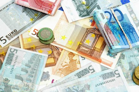 Color Money Euro Background - Notes of 5, 10, 20 and 50.  Stock Photo - 838721