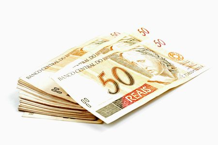 Brazil Real - Brazilian money fifty real.  photo