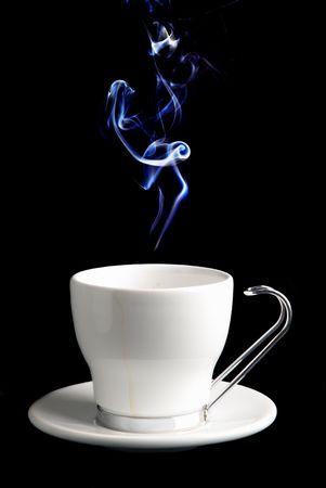 White Cup von Kaffee oder Tee (Sie).