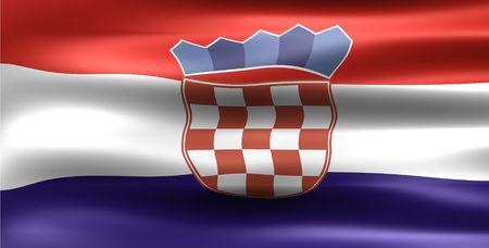 bandiera croazia: Bandiera Croazia - simbolo di un paese Archivio Fotografico