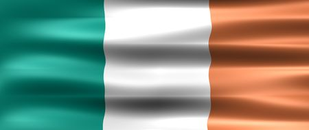 eire: Ireland Flag - Symbol of a country Stock Photo