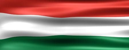 Węgry Flaga - Symbol kraju Zdjęcie Seryjne - 864609