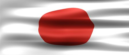 Japan Flag - Symbol of a country photo
