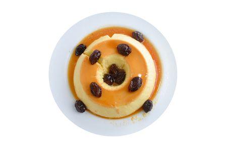 plum pudding: Budino di latte con prugne e sciroppo di caramello.