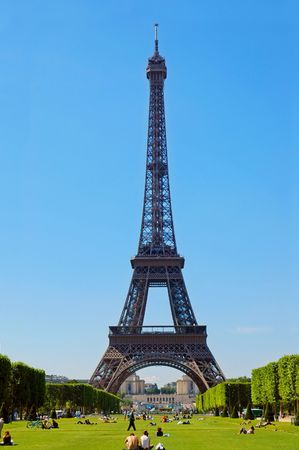 Beautiful sun day in the French capital,  Paris. Stock Photo