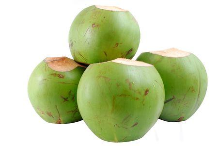 Coconut Fruit isoliert auf weißem Hintergrund