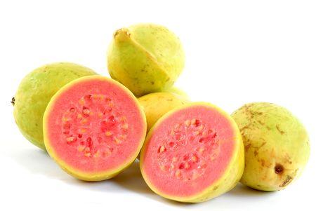 guayaba: Frescos y frutas de salud Guayaba - Colecci�n de frutas Foto de archivo